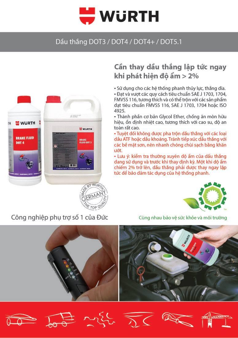 Harga Jual Aspira 12 Dot3 301 Brake Fluid Dot 3 Super Heavy Duty Seiken Minyak Rem Netral Merah 1 Liter Wurth Vn Vt T Ph Tr Germany Ginh Cho Ngnh Otofun Cng