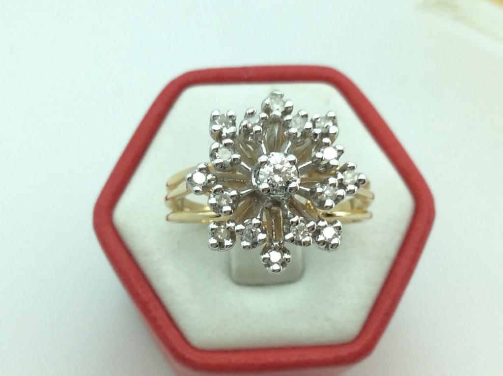 Nhẫn nữ gắn kim cương thiên nhiên H10008