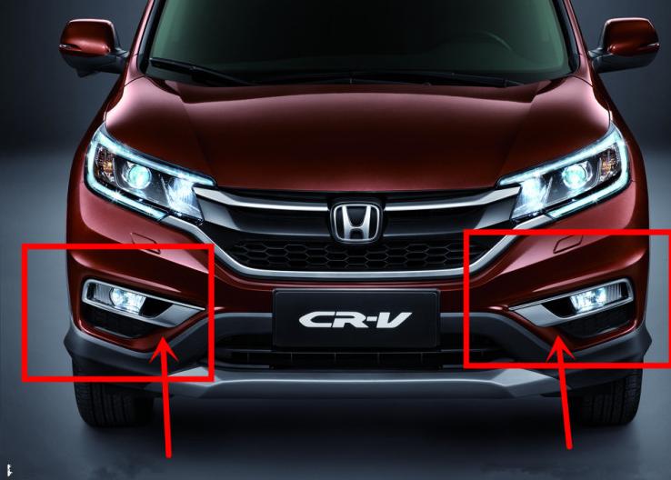 Độ ốp đèn sương mù Honda CRV 15-16