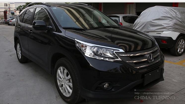 Độ Ốp viền inox đèn pha Honda CRV 12-16