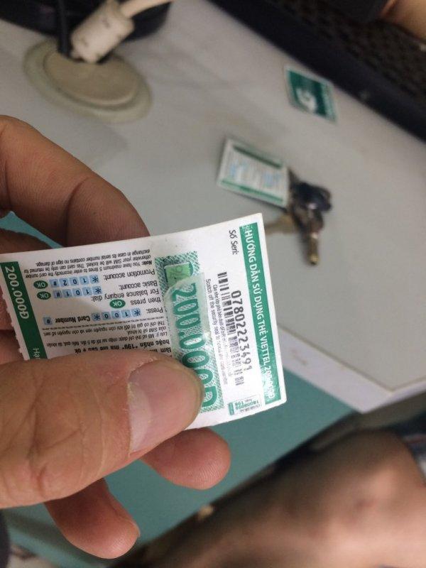 Viettel bán card dung lượng cho khách hàng
