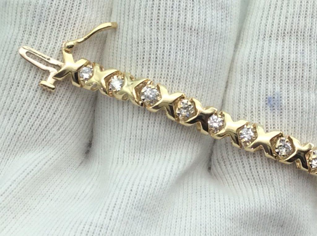 Lắc tay Nữ  vàng 14k gắn kim cương ,ổ ngoại  h10125