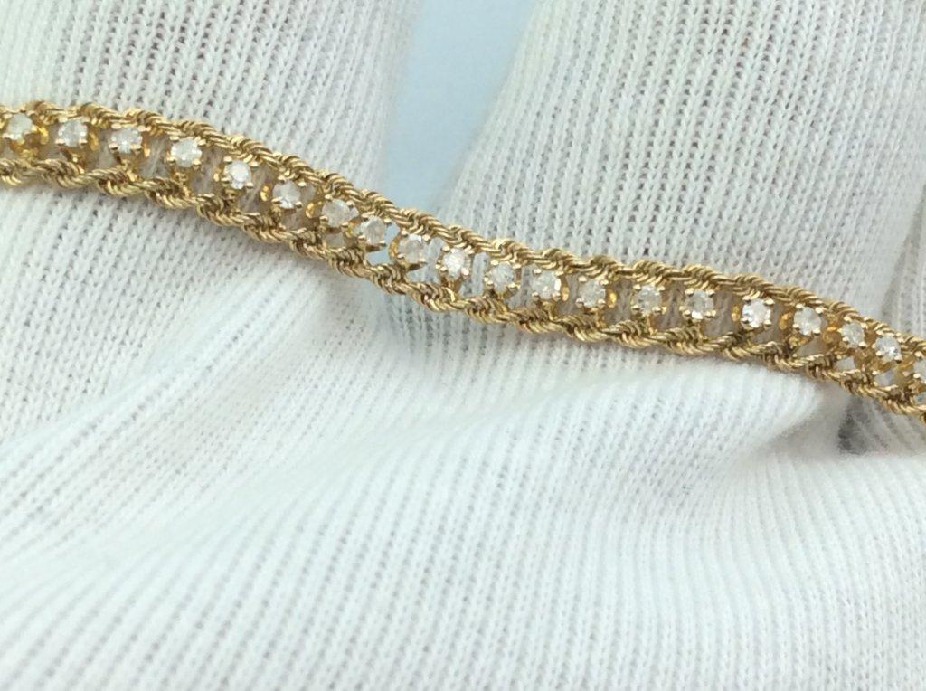 Lắc tay Nữ 14k Gold Diamonds PTA 4697315 made in USA hàng chính hãng sản xuất tại Mỹ.
