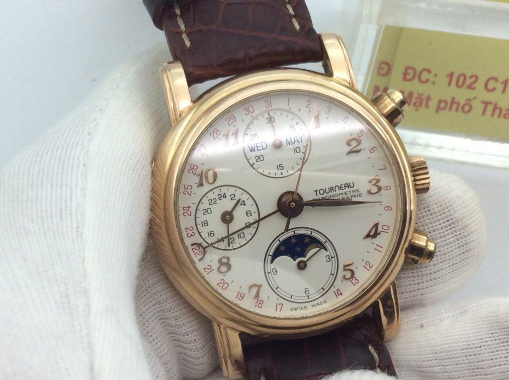 Đồng hồ Nam vàng hồng đúc 18k