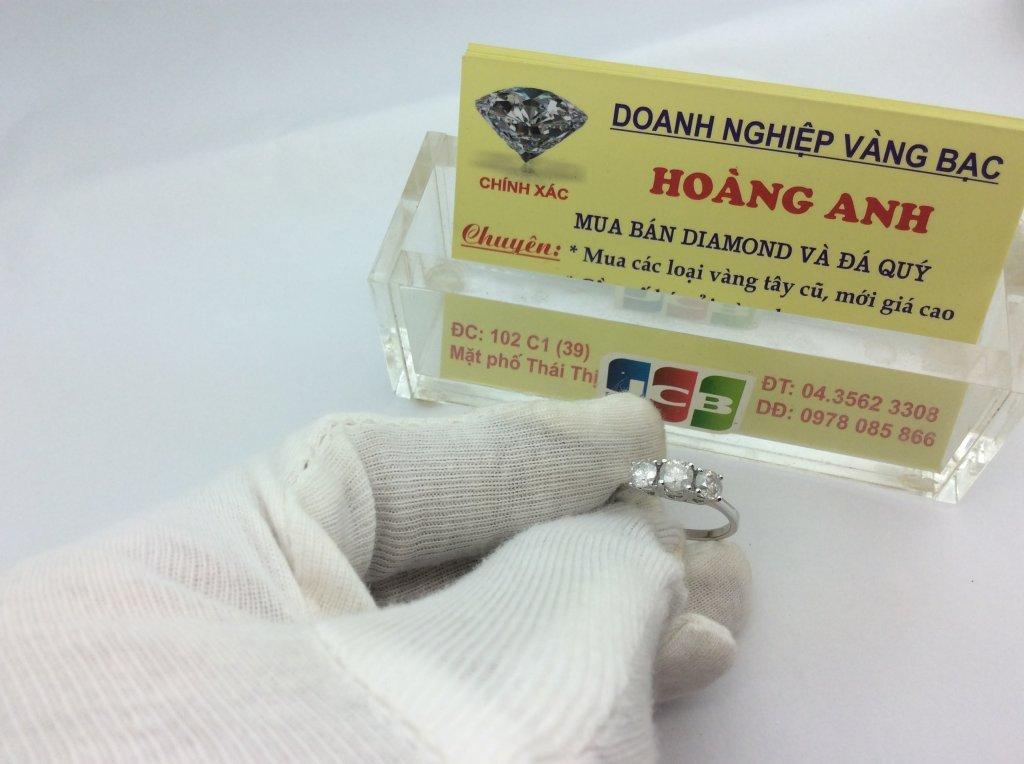 Nhẫn Nữ 14k Gold 4 ly68 4ly70 Diamond Ring Ladies USA hàng chính hãng Mỹ sản xuất H10156