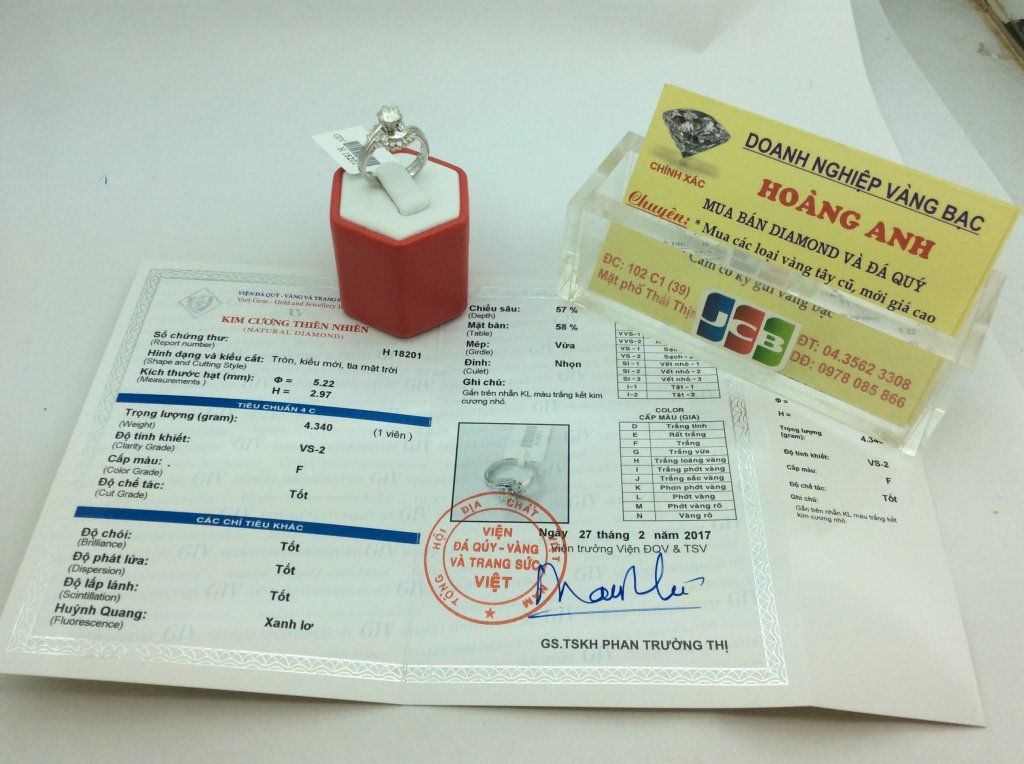 Nhẫn Nữ WH 14k Gold 5ly23 Diamond hàng chính của  Anh Quốc sản xuất có kiểm định  H18201