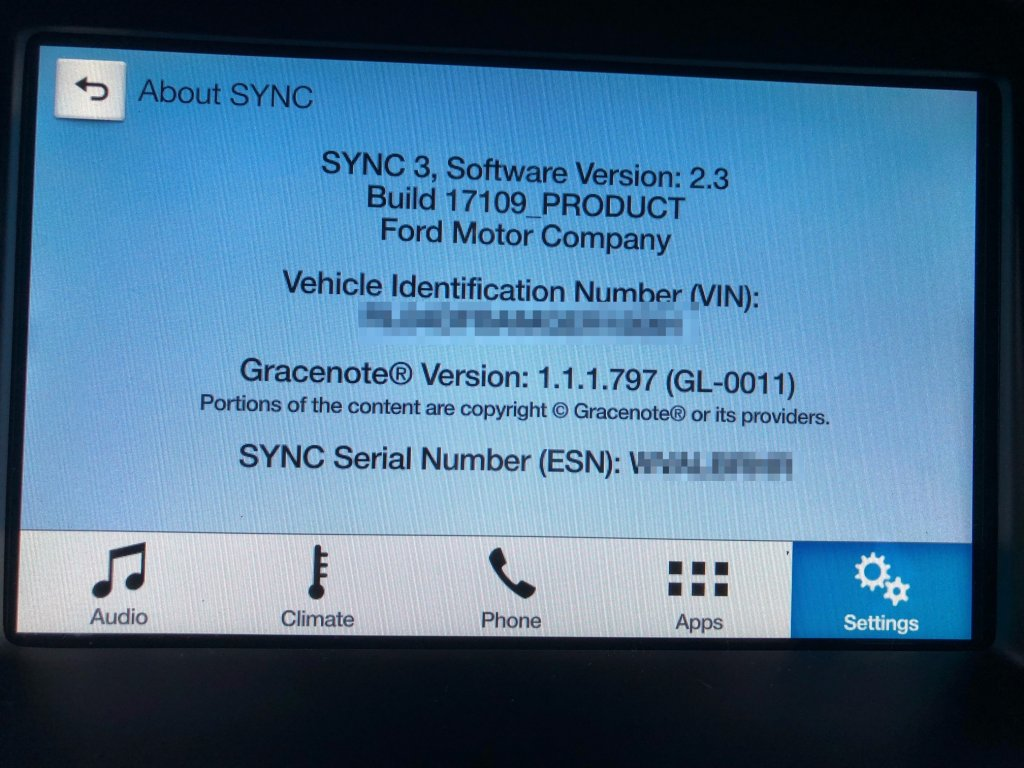 Thảo luận - Update Sync 3 từ software version 2 3 lên software